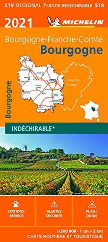 Carte Michelin Bourgogne 2021