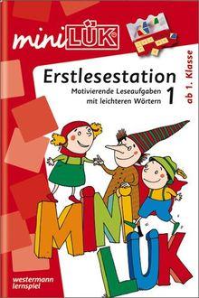 miniLÜK: Erstlesestation 1: Motivierende Leseaufgaben mit leichteren Wörtern ab Klasse 1: Ergänzen und Ersetzen