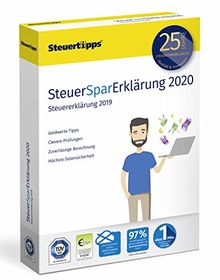 SteuerSparErklärung 2020, Schritt-für-Schritt Steuersoftware für die Steuererklärung 2019, Steuer CD-Rom Windows 10, 8