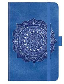 Premium Timer Small Indigo Mandala 2019: Buchkalender - Terminplaner mit hochwertiger Folienveredelung und Prägung. 9 x 14 cm