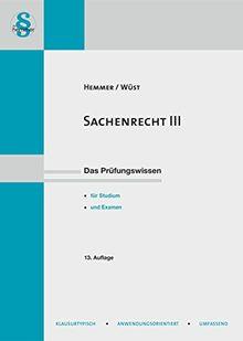 Sachenrecht III (Skripten - Zivilrecht)