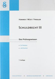 Skript Schuldrecht III: Besondere Vertragstypen