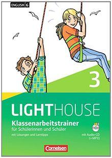 English G LIGHTHOUSE - Allgemeine Ausgabe: Band 3: 7. Schuljahr - Klassenarbeitstrainer mit Lösungen und Audio-CD: Audio-Dateien auch als MP3