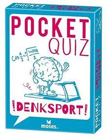 moses. pocket quiz denksport l 50 rätsel-fragen und knobeleien für klein und groß l für kinder