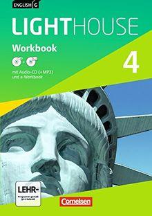 English G LIGHTHOUSE - Allgemeine Ausgabe: Band 4: 8. Schuljahr - Workbook mit CD-ROM (e-Workbook) und Audio-CD: Audio-Dateien auch als MP3