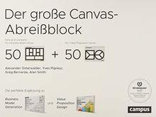 Der große Canvas-Abreißblock: Die perfekte Ergänzung zu Business Model Generation und Value Proposition Design. Extra groß und blanko: je 50 Vorlagen Business Model Canvas und Value Proposition Canvas