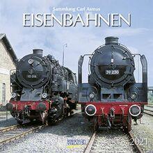 Eisenbahnen 2021: Broschürenkalender mit Ferienterminen. Format: 30 x 30 cm