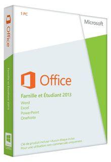 Office Famille et Etudiant 2013 - 1 PC (carte d'activation)