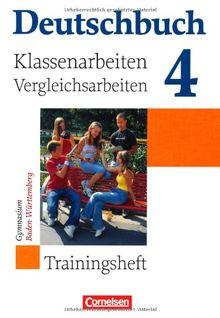 Deutschbuch Gymnasium - Baden Württemberg: Band 4: 8. Schuljahr - Klassenarbeitstrainer mit Lösungen: Trainingsheft mit Lösungen
