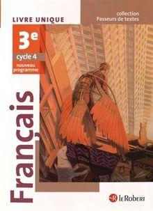 Français 3e Cycle 4, Passeurs de texte : Livre unique
