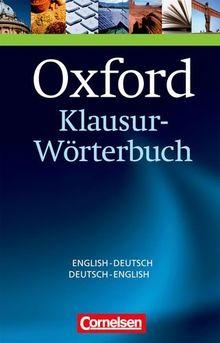 Oxford klausur w rterbuch englisch deutsch deutsch for Ubersetzung englisch deutsch text