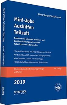 Mini-Jobs, Aushilfen, Teilzeit 2019