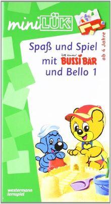 LÜK-mini-Set Spass und Spiel mit Bussi + Bello: miniLÜK: Spaß und Spiel mit Bussi Bär und Bello 1: Fröhliche Aufgaben für Kinder ab 4 Jahren