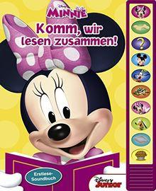 Disney Minnie - Komm, wir lesen zusammen! - Erstlesebuch mit 10 lustigen Geräuschen - Soundbuch für Kinder ab 3 Jahren