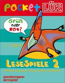 PocketLÜK: Lesespiele 2: 5-7 Jahre: Buchstaben- und Wörterspiele mit Selbstkontrolle. (5 - 7 Jahre)