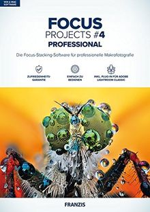 FRANZIS FOCUS projects #4 professional Software|4 professional|3 Geräte|-|Für Windows PC und MAC|Disc|Disc