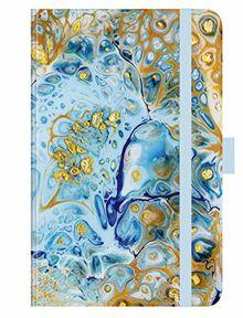"""Premium Timer Small """"Liquid Art"""" 2020: Buchkalender - Terminplaner mit hochwertiger Folienveredelung und Prägung. 9 x 14 cm"""