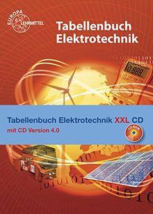 Tabellenbuch Elektrotechnik XXL: Buch und CD Tabellenbuch Elektrotechnik 4.0