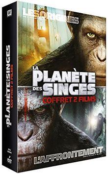 Coffret la planète des singes : les origines : l'affrontement [FR Import]