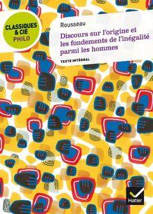 Discours Sur L'Origine ET Les Fondements De L'Inegalite