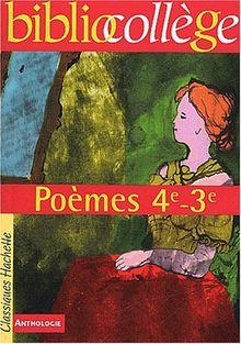 Poèmes, 4ème, 3ème (Livre de l'élève)