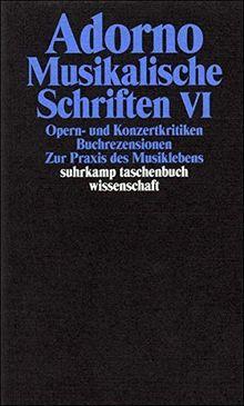 Adorno, Theodor W., Bd.19 : Musikalische Schriften VI