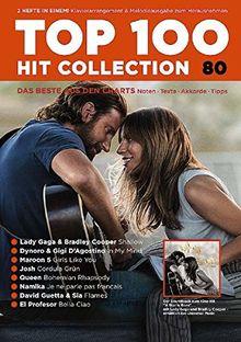 Top 100 Hit Collection 80: Das Beste aus den Charts / Noten - Texte - Akkorde - Tipps. Band 80. Klavier / Keyboard. (Music Factory)