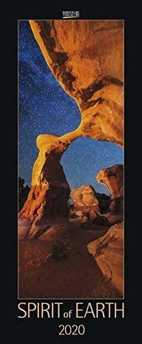Spirit of Earth 2020: Schmaler Wandkalender. Foto-Kunstkalender über unsere atemberaubende Natur. PhotoArt Vertikal. 28,5 x 69 cm. Edles Foliendeckblatt.
