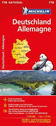 Michelin Deutschland: Straßen- und Tourismuskarte (Michelin Nationalkarte)