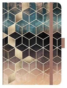 """Premium Timer Big """"Dream Cubes"""" 2021: Hochwertiger Buchkalender. Terminplaner mit Wochenkalendarium, Gummiband und Stifthalter. 12 x 17 cm"""