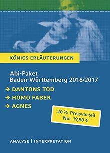 Abitur Baden-Württemberg 2016 & 2017 - Königs Erläuterungen Paket: Ein Bundle mit allen Lektürehilfen zur Abiturprüfung: Dantons Tod, Homo faber, Agnes.