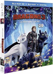 Dragons 3 : Le Monde caché [Blu-ray 3D + Blu-ray + Digital]
