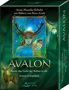 Avalon: Spüre das Licht der Kelten in dir - Kartenset, 50 Karten mit Begleitbuch