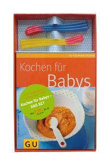 Kochen für Babys - das Set: Küchenratgeber Kochen für Babys plus sechs Wärmesensor-Löffel (GU Buch plus)