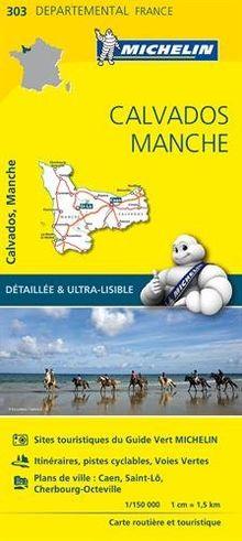 CALVADOS / MANCHE 11303 CARTE ' LOCAL ' ( France ) MICHELIN KAART