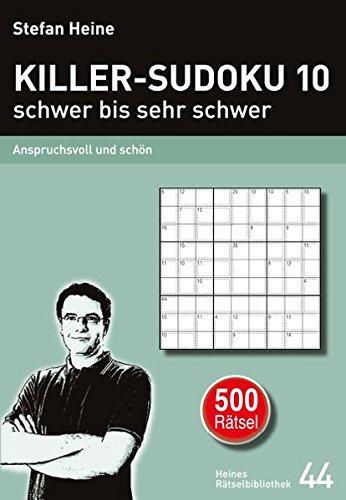Killer Sudoku 10 Schwer Bis Sehr Schwer Anspruchsvoll Und Schön