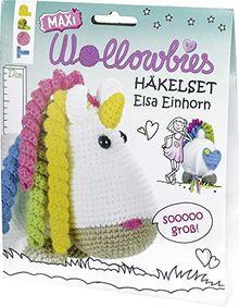 Maxi-Wollowbies Häkelset Elsa Einhorn: Anleitung und Material für ein Maxi-Einhorn zum Selberhäkeln