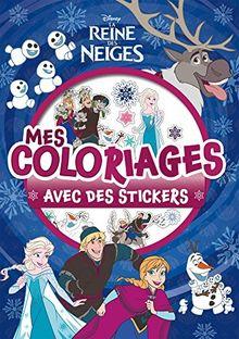 Mes coloriages avec des stickers La Reine des Neiges