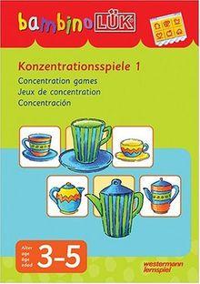 bambinoLÜK-System: bambinoLÜK: Konzentrationsspiele 1: 3-5 Jahre: Für Kinder ab 3 J