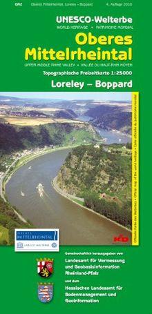 Unesco-Welterbe Oberes Mittelrheintal 2. Loreley - Boppard. 1 : 25 000. Topographische Freizeitkarte