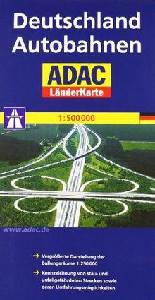ADAC Länderkarte Deutschland Autobahnen 1:600.000