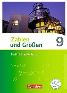 Zahlen und Größen - Berlin und Brandenburg / 9. Schuljahr - Schülerbuch