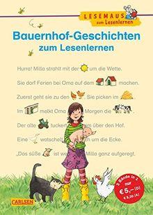 LESEMAUS zum Lesenlernen Sammelbände: Bauernhof-Geschichten zum Lesenlernen: Bild-Wörter-Geschichten - mit Bildern lesen lernen