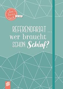 """Mein Notizbuch fürs Referendariat, A5, """"live – love – teach"""": Hardcover, 112 S. mit Punkteraster, Perforation, Lesebändchen und Verschlussgummi"""