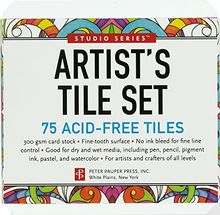 Studio Series Artist's Tile Set: White: 75 Acid-Free White Tiles
