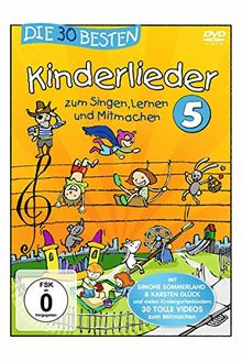 Die 30 Besten Kinderlieder 5 (Dvd)