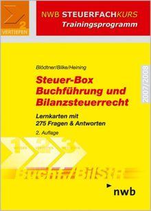 Steuer-Box Buchführung und Bilanzsteuerrecht. Lernkarten mit 275 Fragen & Antworten (NWB Steuerfachkurs - Trainingsprogramm)