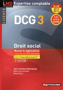 Droit social DCG 3 : Manuel et applications