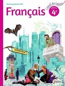 Français 4éme cycle 4 livre de l'élève grand format