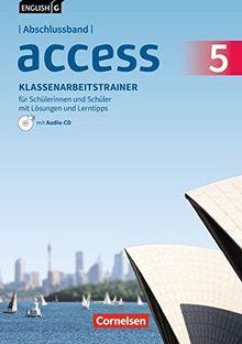 English G Access - Allgemeine Ausgabe / Abschlussband 5: 9. Schuljahr - Klassenarbeitstrainer mit Lösungen und Audios online: Mit Lerntipps